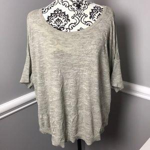 Ann Taylor loft xl sweater tee gray